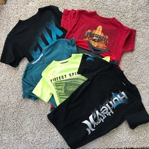 6 Youth Boys Sports T Shirts Fox Hawk Hurley